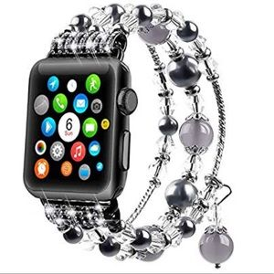Accessories - For Apple Watch Faux Pearl Elastic Band,